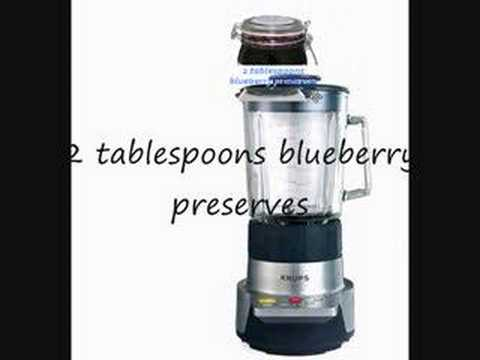 How to make Blueberry Smoothie (Visual Recipe).