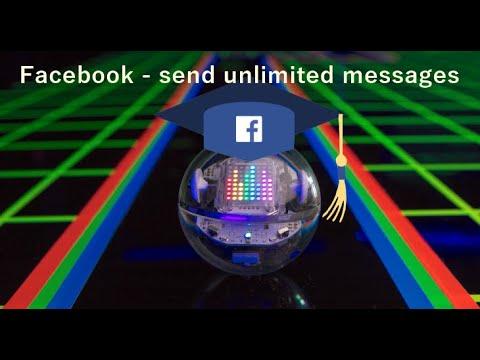 Facebook - send unlimited messages script