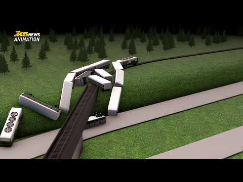 Animation of how an Amtrak train derailed near DuPont