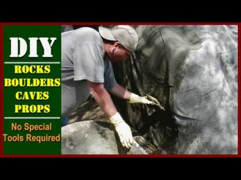 How To Make Fake Faux Artificial Landscape Rocks Boulders Caves or Props
