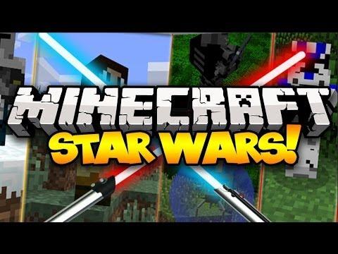 Minecraft: STAR WARS! (Lightsabers, New Mobs, Guns, & MORE!)   Mod Showcase