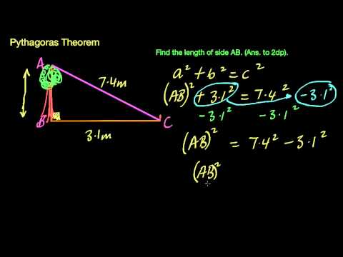 Pythagoras - Finding the short side