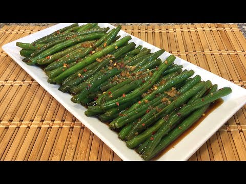 How To Make Vietnamese Sweet Spicy Green Beans-Healthy Asian Food Recipes