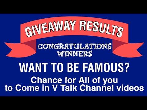 Live: 10K Subs GIVEAWAY RESULT | Thanks For Support • V Talk