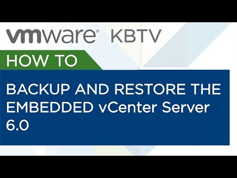 How to backup and restore the embedded vCenter Server 6.0 vPostgres database