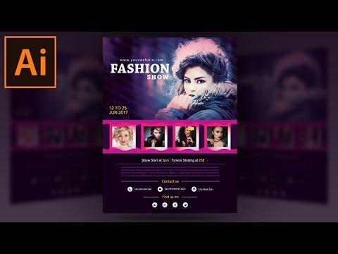 Illustrator Tutorial - Fashion Show Flyer Design