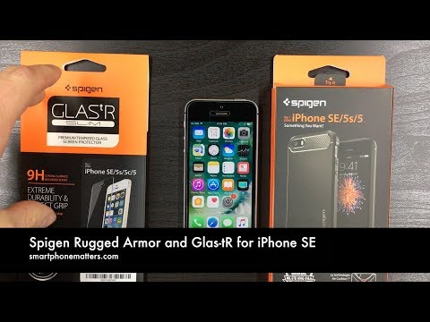 Spigen Rugged Armor and Glas-tR for iPhone SE