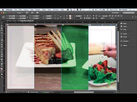 InDesign: Layout A 4-Column Image Background for a Flyer or Leaflet