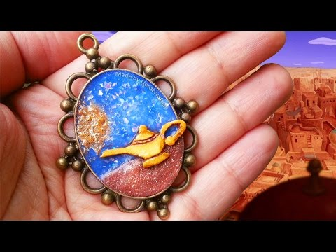 ALADDIN LAMP Polymer Clay Tutorial + NEW SCULPEY COLORS