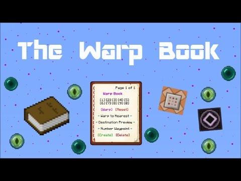 Minecraft 1.11 - The Warp Book Command Module!