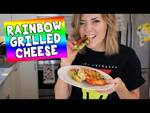RAINBOW GRILLED CHEESE // Grace Helbig