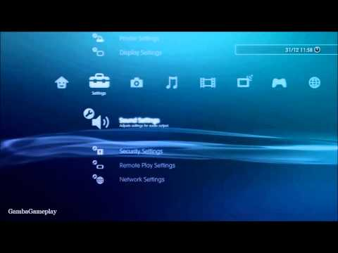 How to turn on/off key tone (PS3)
