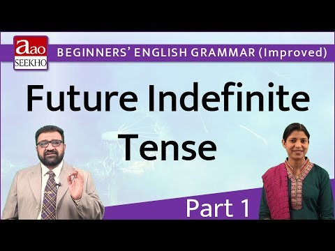 Future Indefinite Tense - Part 1 - Beginners' English Grammar (Improved) - Video 16