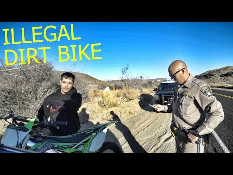 PULLED OVER FOR RIDING DIRT BIKE...