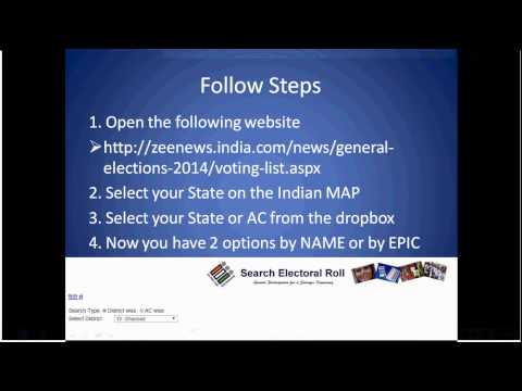 How to check my name in voting list India