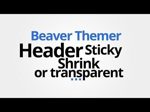 Beaver Themer: Make Theme Header shrink, sticky, transparent