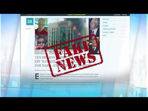 EPF:Sarawak Report's Blog, Fb Postings Fake News
