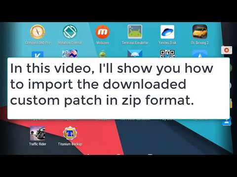 How to import custom patch from dowloaded zip.