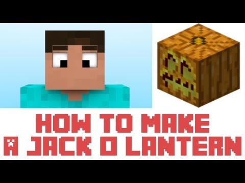Minecraft - How To Make A Jack O Lantern In Minecraft