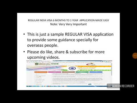 REGULAR INDIA VISA 6 MONTHS TO 1 YEAR APPLICATION MADE EASY