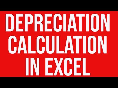 Practical example of depreciation calculation in Excel