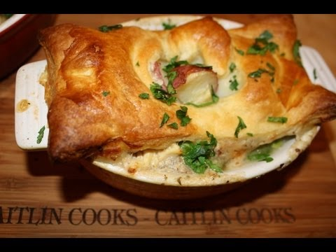 Chicken Pot Pie with a Puff-Pastry Crust