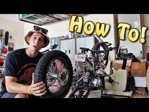 Changing Tube On Pit Bike!