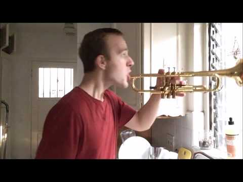 EASIEST Way to CLEAN A TRUMPET...FOR FREE!!! (BTBLOG 48)