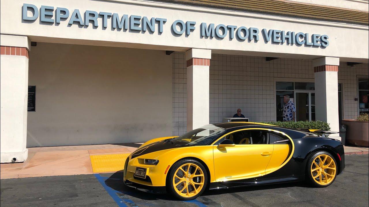 17 Year Old takes DMV Driver's Test in Bugatti Chiron