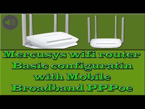 Mercusys wifi router Basic configuration via Mobile Broadband PPPoe