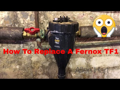 How to Replace a Fernox TF1 with an Omega Filter Day in the life of a Plumber / Gas Engineer