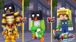 Minecraft SUPER MARIO ODYSSEY VS - BOWSER (Donut) VS YOSHI (Baby Max) VS LUIGI (Baby Duck)