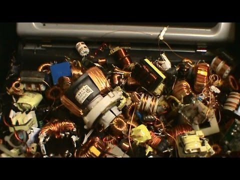 Scrapping small copper bearing motors, CBM's, inducers, transformers from electronics.  A how to