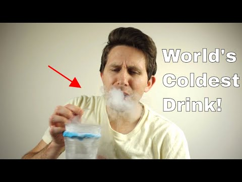 Drinking Liquid Nitrogen Through a Straw—Do NOT Try This at Home!