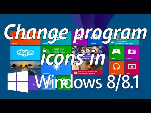 How to easily change program icons in windows 8 or 8.1