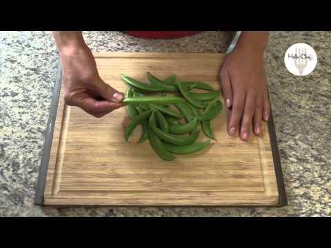 How to prepare sugar snap peas