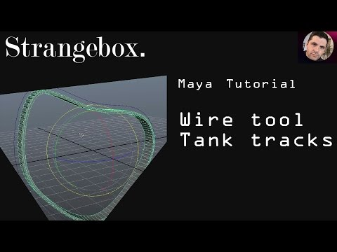 The Wire Tool Maya : Simple, fast, Tank Tracks or belt.