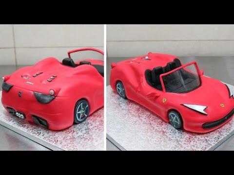 How To Make a 3D Ferrari Cake by CakesStepbyStep