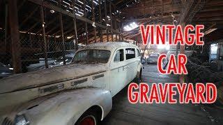 CAR GRAVEYARD LEFT IN GHOST TOWN - OREGON