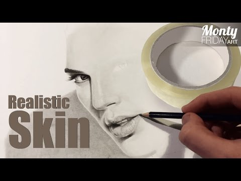 Tutorial #01 - Realistic Face Drawing Textures with Sticky Tape!