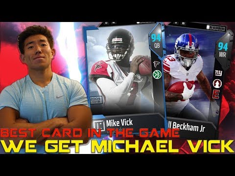 WE GET MICHAEL VICK! BEST CARD IN MADDEN 18! ULTIMATE TEAM