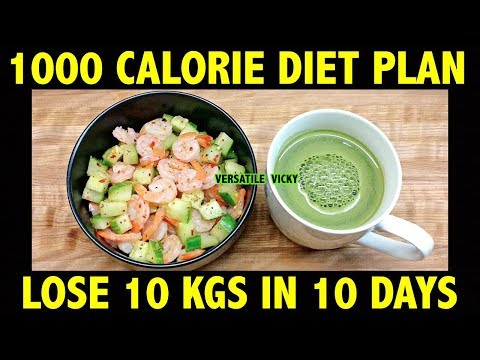 HOW TO LOSE WEIGHT FAST 10Kg in 10 Days   1000 Calorie Diet Plan   Lose 1Kg In 1 Day