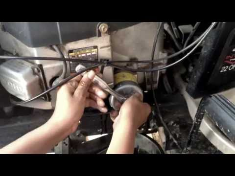 How to change the oil and Filter on a Craftsman Lawn Tractor