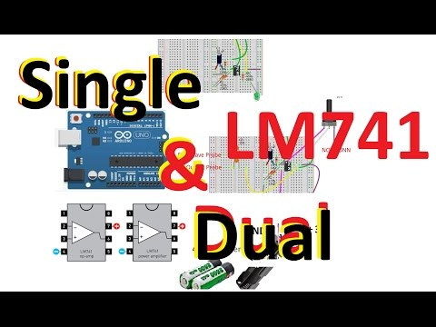 LM741 as Comparator & Opamp #basicTronics 02