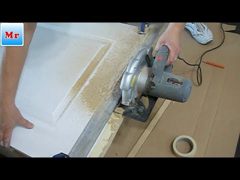 Why and How to Undercut Interior Door After Laminate Installation   MrYoucandoityourself