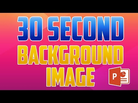 PowerPoint 2016 : How to Add a Background Image