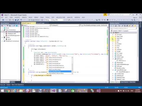 Merge Two DataColumn and Display single in ASP.NET Gridview