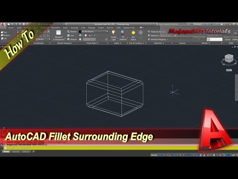Autocad How To Fillet Surrounding Edge Tutorial