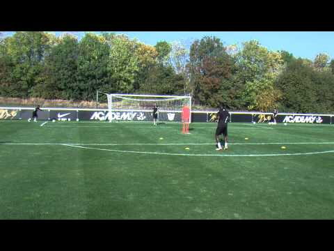 Soccer shooting exercise   The serve and volley drill   Nike Academy