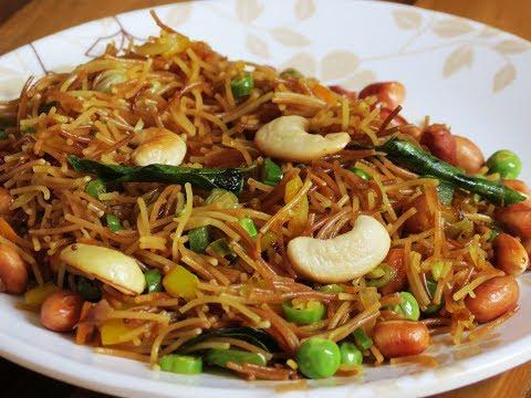How To Make Sevai Upma Recipe | Vermicelli Upma | Foddiescorner